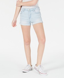 Celebrity Pink Juniors' Cuffed Denim Shorts
