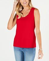 8d9c313e4ea46 Karen Scott Embellished Tops  Shop Embellished Tops - Macy s