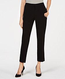Kasper Petite Side-Elastic Drapey Pants