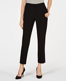 Kasper Side-Elastic Drapey Pants