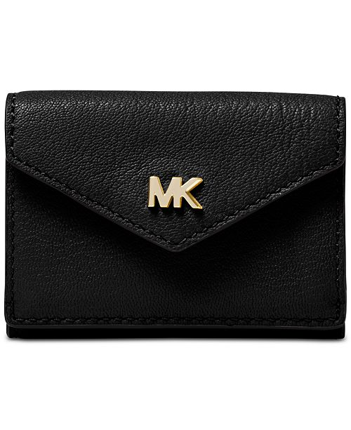 76f55cb71eb8be Michael Kors Shiny Leather Trifold Flap Wallet & Reviews - Handbags ...