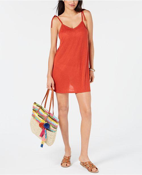 'Tie Juniors Dress Maillots Miken Shoulder de Bain Cinnamon Cover Femmes Dress upCommentaires knw80PO