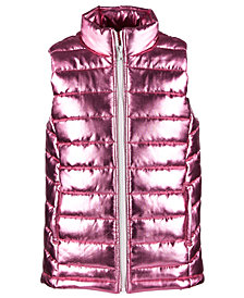 Ideology Little Girls Metallic Puffer Vest, Created for Macy's