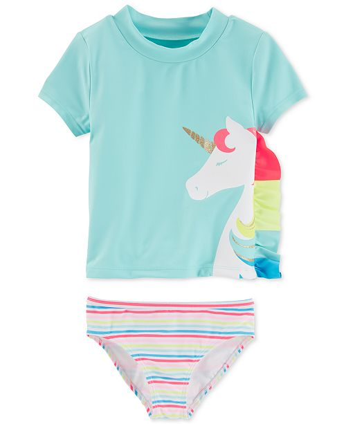 3ce095d70f Carter's Baby Girls 2-Pc. Unicorn Rash Guard Set & Reviews ...
