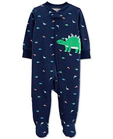 Carter's Baby Boys 1-Pc. Dino Cotton Footed Pajamas