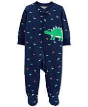 1c862ef0e Carter's Baby Boys 1-Pc. Dino Cotton Footed Pajamas