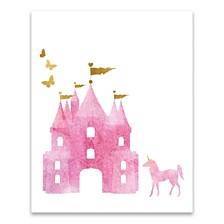 Dreamy Castle Printed Canvas