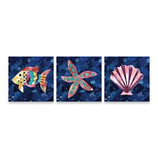 Boho Reef V - VII Printed Canvas Set of 3