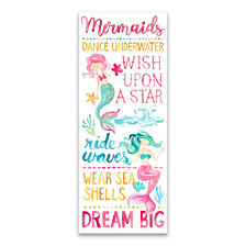 Mermaids Typography Printed Canvas