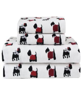 Winter Nights Cotton Flannel Twin Sheet Set