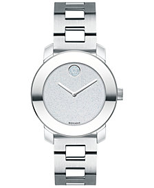 Movado Women's Swiss BOLD Stainless Steel Bracelet Watch 30mm