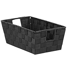 Home Basics X-Large Polyester Woven Strap Open Bin