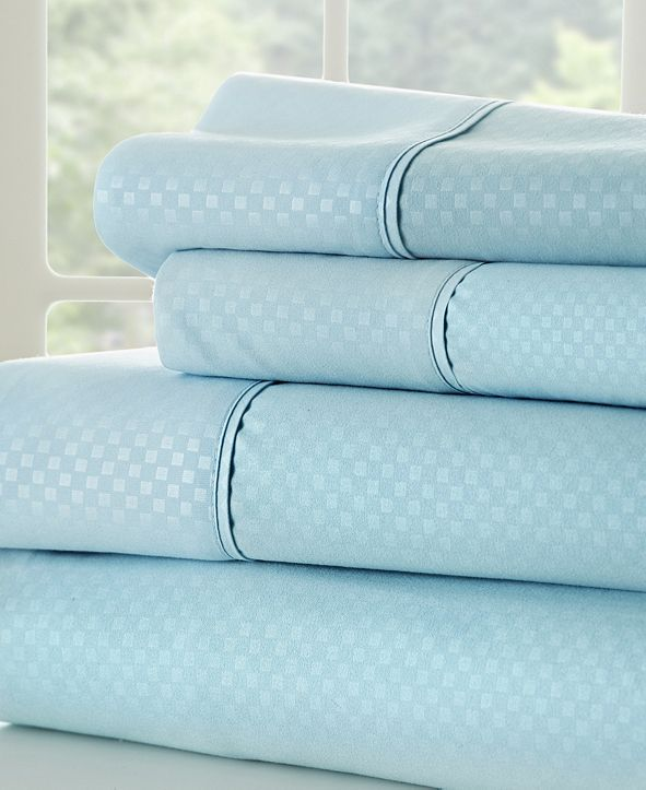 ienjoy Home Expressed In Embossed by The Home Collection 4 Piece Bed Sheet Set, Queen