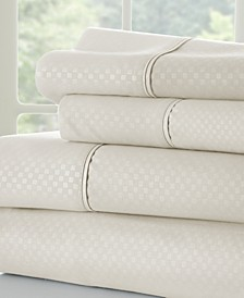 Expressed In Embossed by The Home Collection 4 Piece Bed Sheet Set, California King