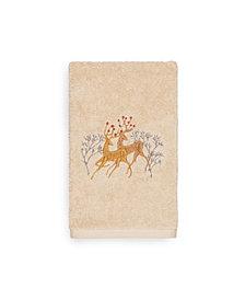 Linum Home Christmas Deer Pair 100% Turkish Cotton Hand Towels