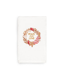 Linum Home Christmas Peace 100% Turkish Cotton Hand Towels