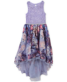 Speechless Big Girls Floral-Print Lace Dress