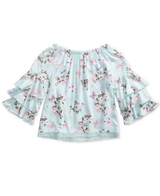 Image of Epic Threads Big Girls Floral Print Top, Created for Macy's