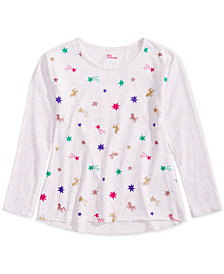 Epic Threads Big Girls Long-Sleeve Printed T-Shirt, Created for Macy's