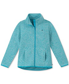 Big Girls Heathered Polar Fleece Jacket