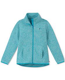 Nautica Big Girls Heathered Polar Fleece Jacket