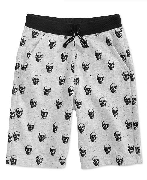 Epic Threads Big Boys Skull Shorts, Created for Macy's