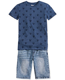 Epic Threads Big Boys Graphic T-Shirt & Bowery Denim Shorts, Created for Macy's