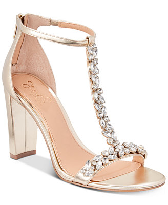 Morley Embellished Evening Sandals by Jewel Badgley Mischka