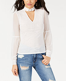 GUESS Niki Mesh Mock-Neck Top