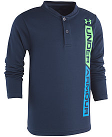 Under Armour Little Boys Logo-Print Henley T-Shirt