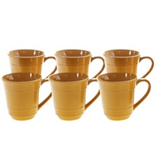 Certified International Autumn Fields Orbit Harvest Gold 6-Pc. Mug