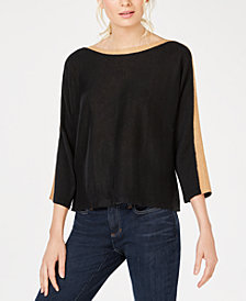 Eileen Fisher Organic Linen Boat-Neck Top
