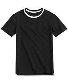 Big Boys Contrast Collar T-Shirt