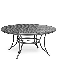 "Grove Hill II Cast Aluminum 61"" Outdoor Table, Created For Macy's"