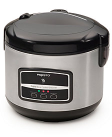 Presto® 16-Cup Digital Rice Cooker/Steamer