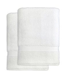 Linum Home Herringbone 2-Pc. Bath Sheet Set