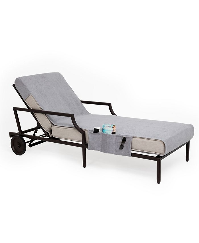 Linum Home - Standard Size Chaise Lounge Cover with Side Pockets