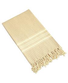 Linum Home Textiles Luxe Herringbone Pestemal Beach Towel