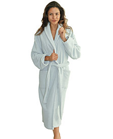 Linum Home Unisex Herringbone Weave Bath Robe