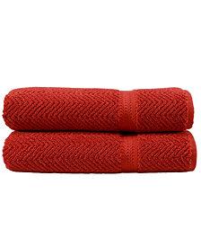 Linum Home Herringbone 2-Pc. Bath Towel Set