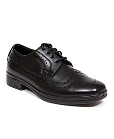 Little and Big Boys Ace Dress Wing-Tip Dress Comfort Oxford