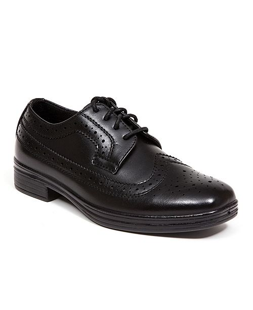 DEER STAGS Little and Big Boys Ace Dress Wing-Tip Dress Comfort Oxford