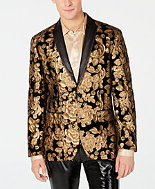 I.N.C. Men's Floral Sequin Velvet Blazer, Created for Macy's
