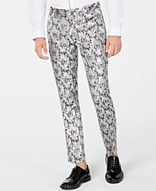 I.N.C. Men's Slim-Fit Metallic Jacquard Pants, Created for Macy's