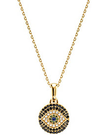 Michael Kors Women's Custom Kors 14K Gold-Plated Sterling Silver Evil Eye Necklace