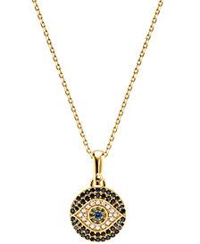 Michael Kors Women's Custom Kors 14K Gold-Plated Sterling Silver Evil Eye Necklace