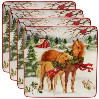 Christmas on the Farm 4-Pc. Dinner Plate