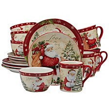 Holiday Wishes 16-Pc. Dinnerware Set