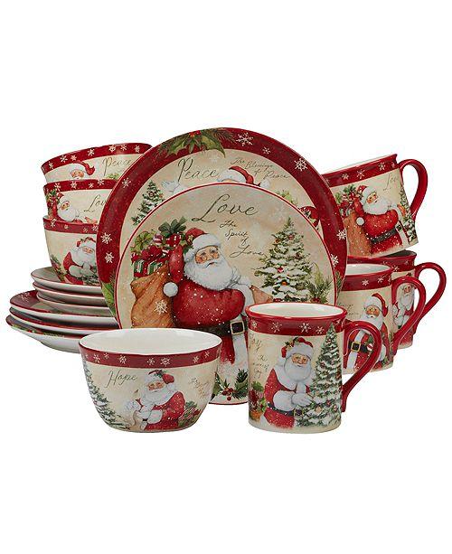 Certified International Holiday Wishes 16-Pc. Dinnerware Set