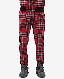 Hudson NYC Men's Madras Plaid Track Pants
